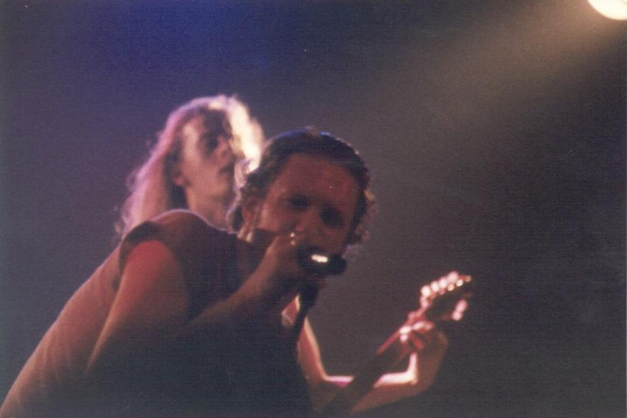 Layne Staley e Jerry Cantrell in un concerto di Boston nel 1992